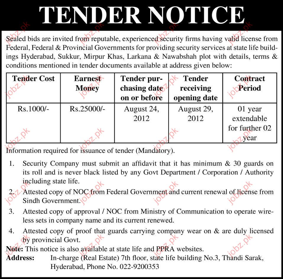 Private Security Tender