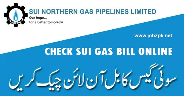 SNGPL: Sui Northern Gas Pipeline Limited Duplicate Bill Online Check & Print Duplicate Bill Copy
