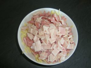 simple ham,cheese and mustard sandwiches