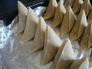 tasty homemade beef samosas