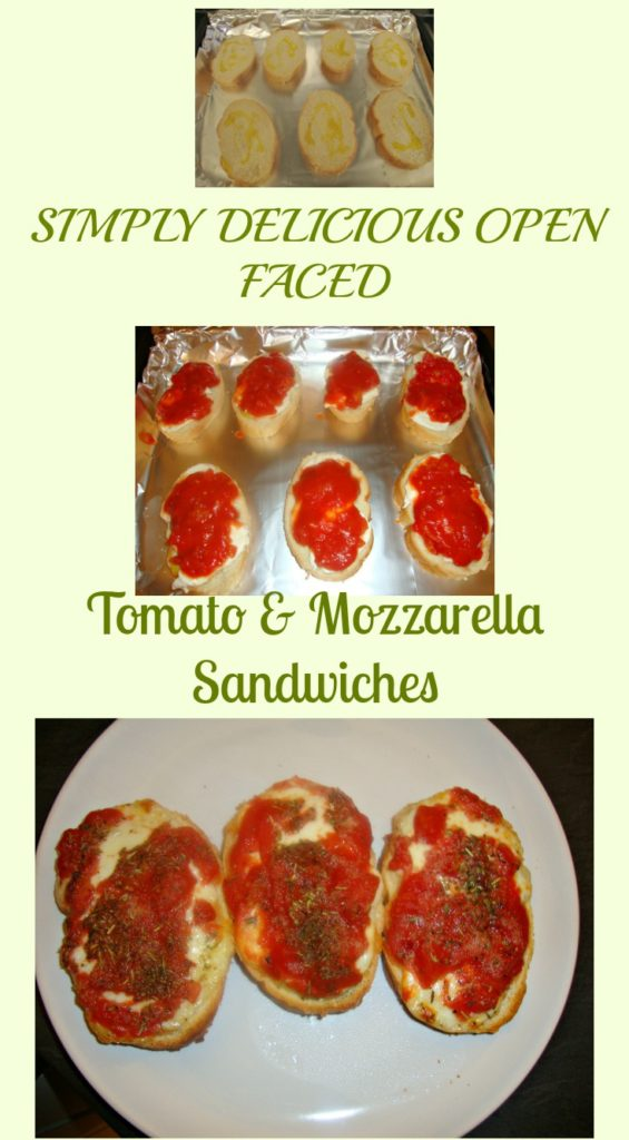 OPEN FACED TOMATO & MOZZARELLA SANDWICHES
