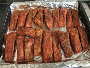 OVEN-BAKED DRY RUBBED BBQ PORK RIBS