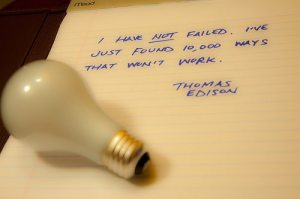 Edison, failure, quote