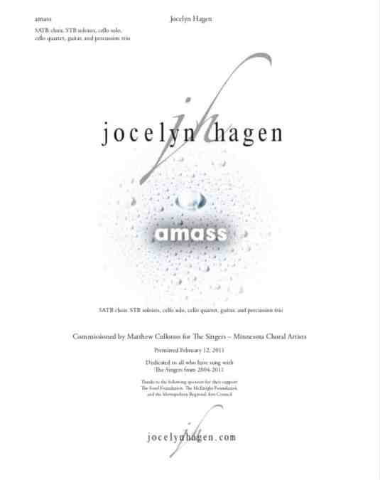 "University of Michigan Chamber Choir performs ""amass"""