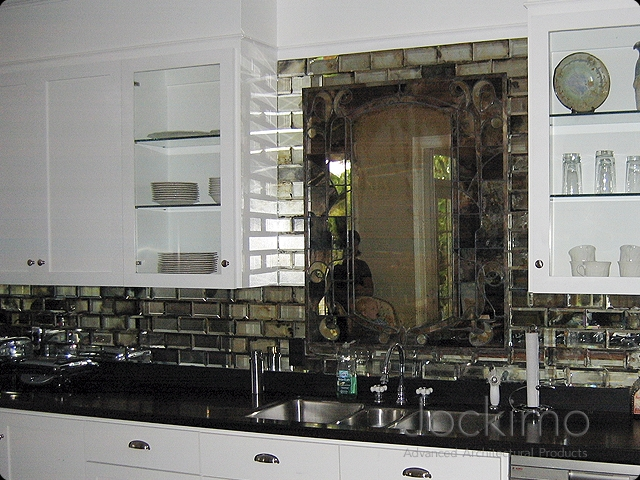 subwaytiles antiquemirrorkitchens  Cast Glass Glass