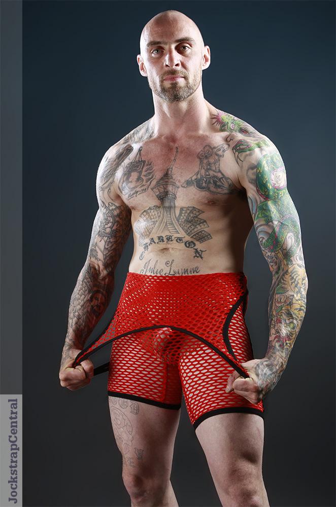 Pistol Pete Xpose Mesh Wrestling Singlet  Red at