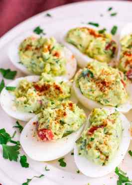 Image result for Print Guacamole Stuffed Eggs