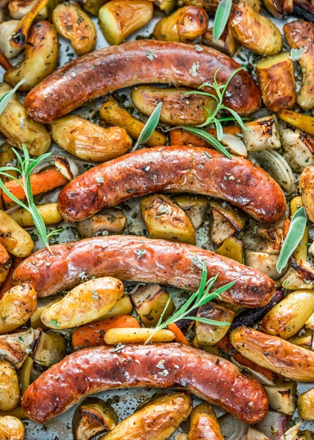 Baked Sausage with Apples