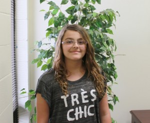 Ariana Arbelaez, 2015 JCS Elementary Spelling Bee champion.