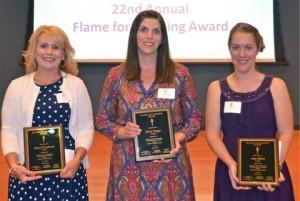 three recipient winners
