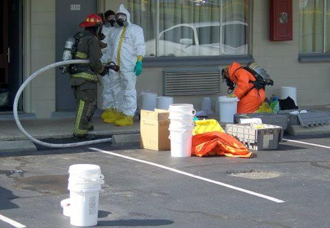 A meth lab found near Four Oaks in June 2014.
