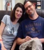 Jason Palmer (far right) and his wife, Lauren.