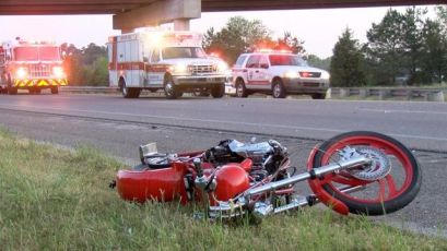 Accident I40 Motorcycle 1