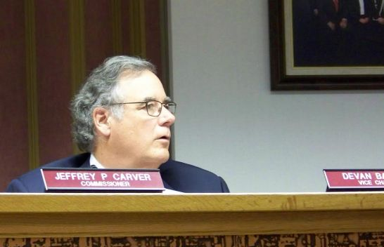 Commissioner Vice Chairman DeVan Barbour of Benson discusses a countywide alcohol sales referendum at Monday's meeting. The measure passed 5-2 sending it before voters this November. JoCoReport.com Photo