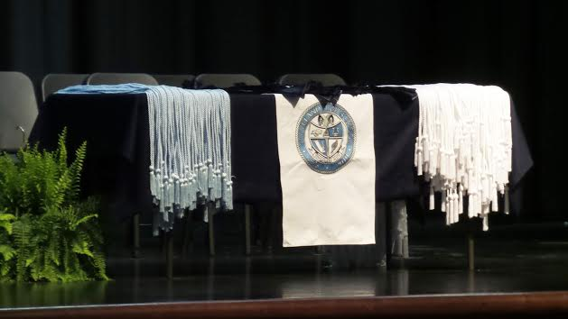 Honors Cords waiting to be awarded.