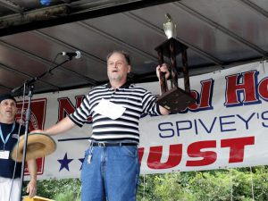 Larry Jackson the 2015 Spivey's Corner National Hollerin' contest winner. Photo courtesy The Daily Record