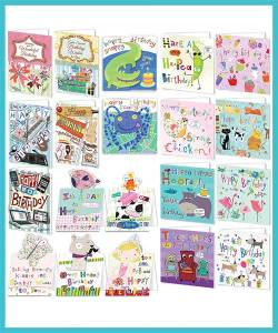 Bumper packs of 20 assorted greeting cards - £18.99