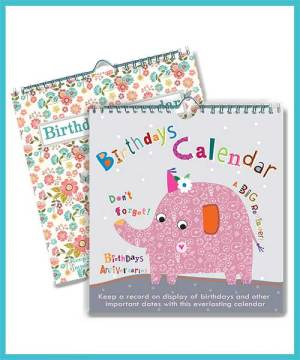 Birthday Calendars - Never ever forget another Birthday! £6.99