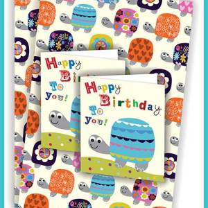 Gift Wrap Packs - 2 sheets with matching card or tags - £3.45