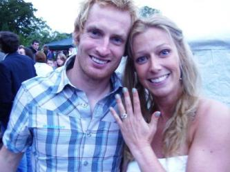 Beth and Adam with their new ring
