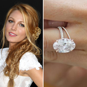 Blake Lively's gorgeous rose gold oval cut ring