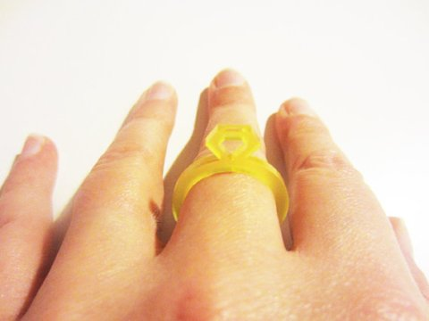 Acrylic Diamond Ring by rachelmckjewellery on Etsy