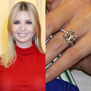Ivanka Trump's Cushion Cut diamond ring from her own collection