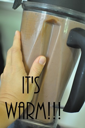 warm hot chocolate vitamix