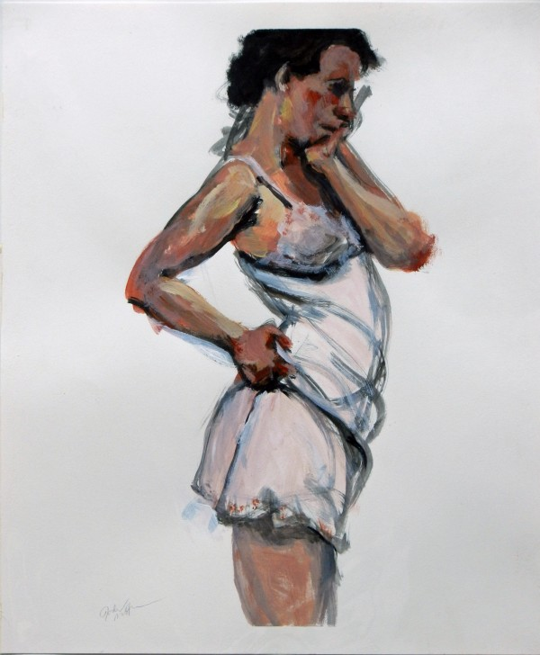 Woman with slip