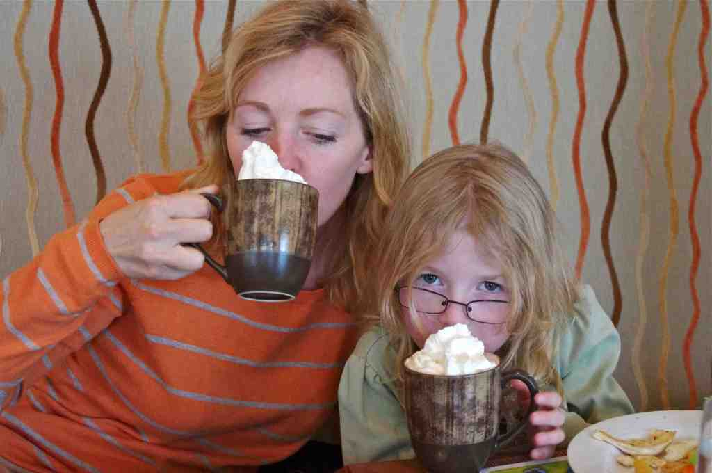 mother and daughter hot chocolate