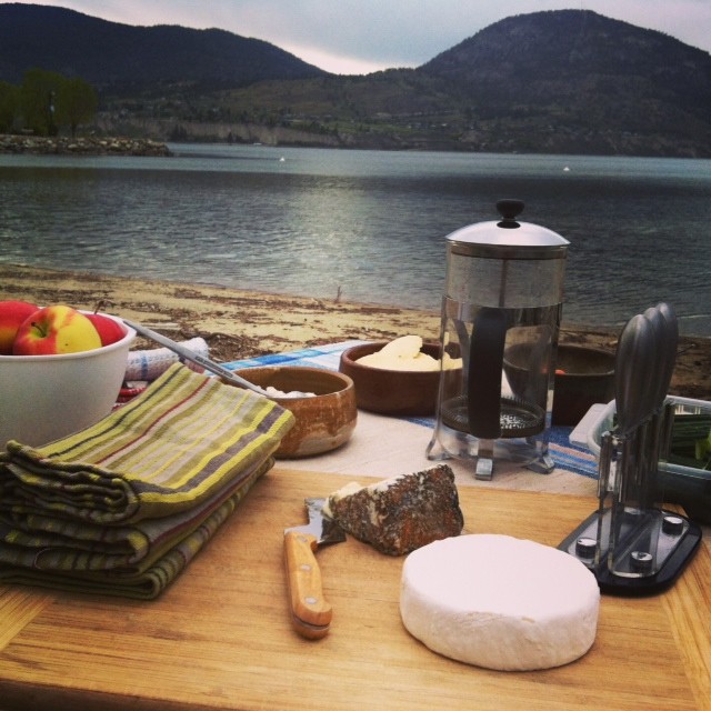Picnic on the shores of Penticton Beach