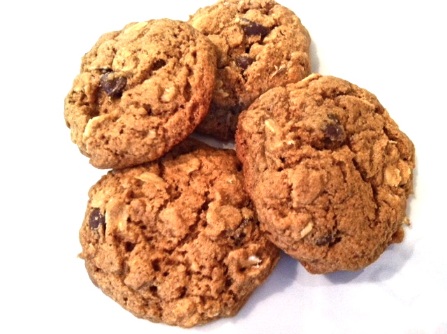 Healthy cookies on a plate