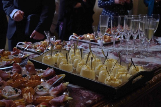 Appetizer Buffet table