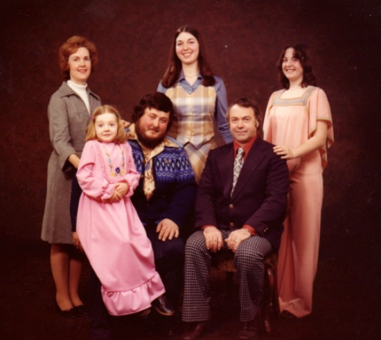 1970s professional family photograph