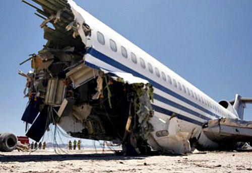 Airplane crash image