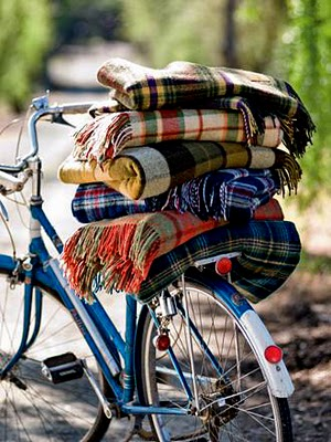 city bike in fall
