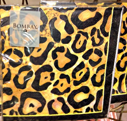 cheetah napkins