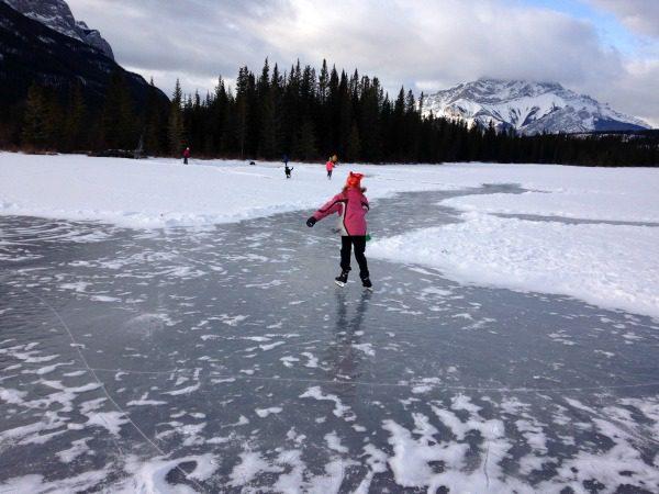 Outdoor Ice Skating Banff National Park