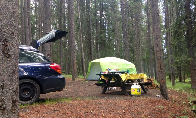 camping in banff