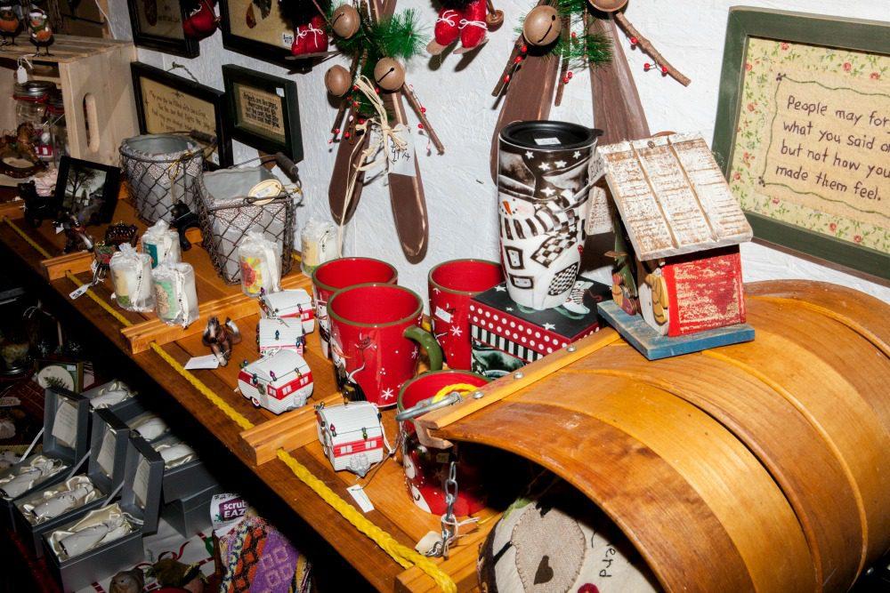 Christmas shop interior