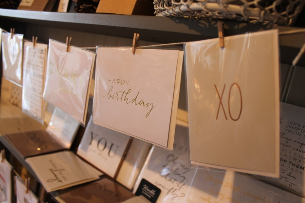 white and gold greeting cards