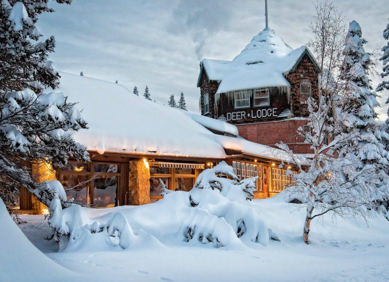 mountain lodge winter