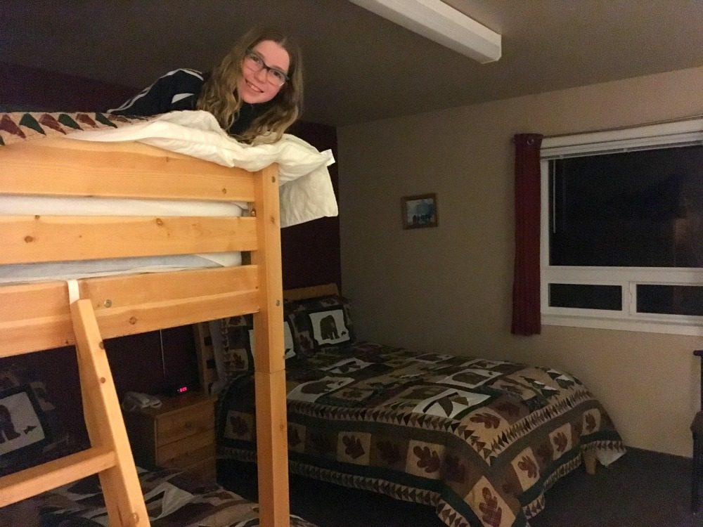 hotel room bunk bed
