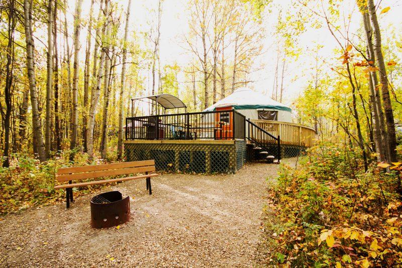 yurt in fall