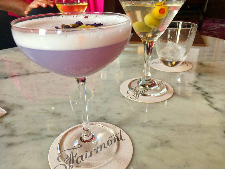 purple gin cocktail