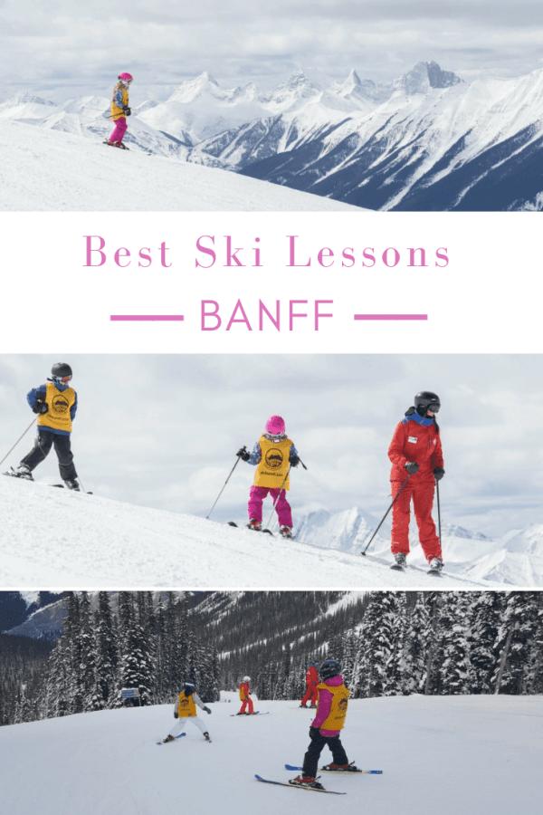 best ski lessons banff national park