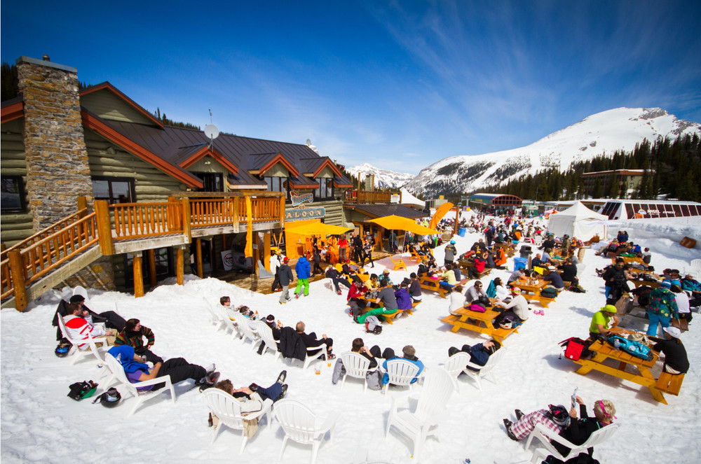 ski resort beer gardens