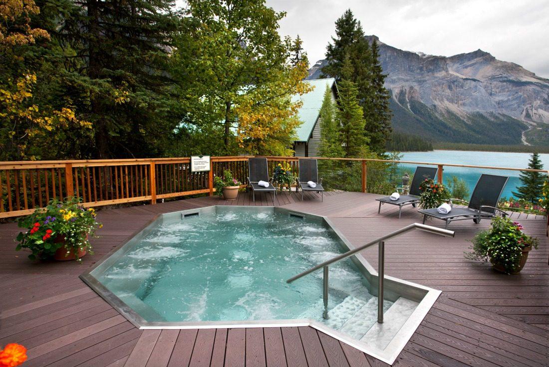 hot tub on a lake