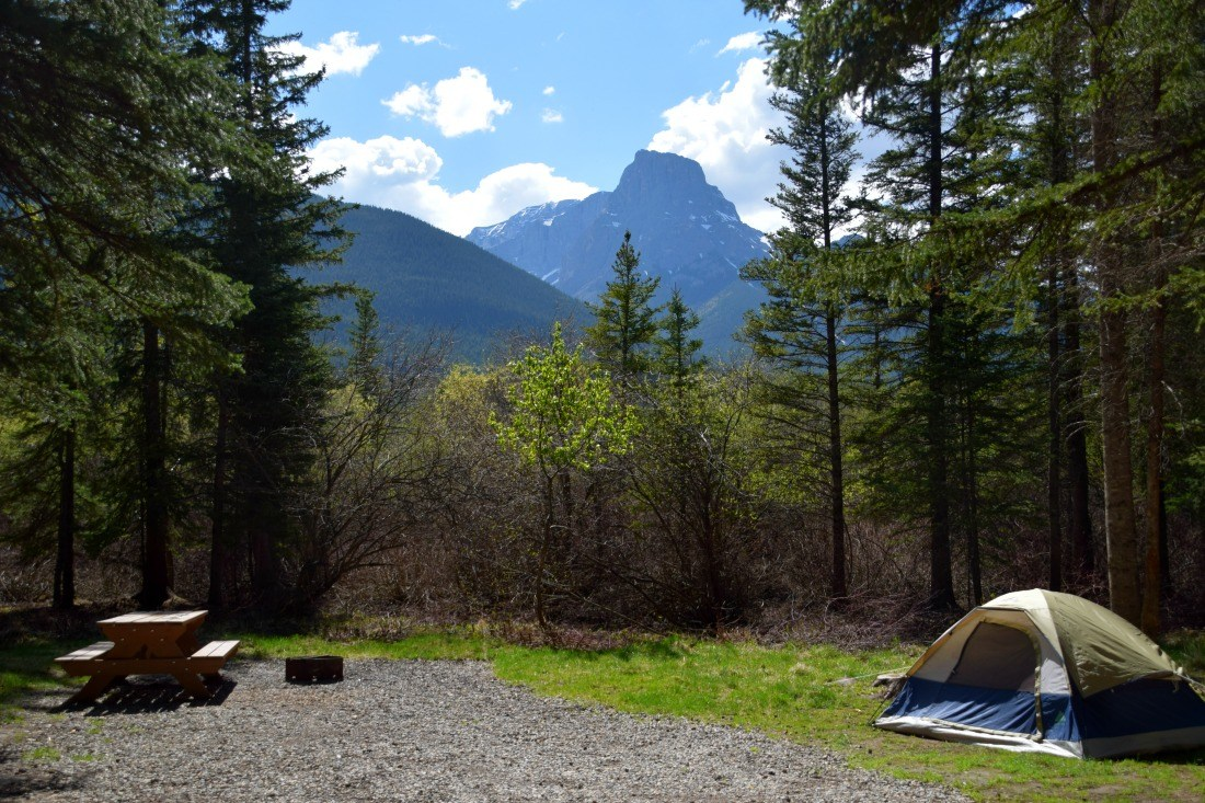 Three Sisters Camping Canmore