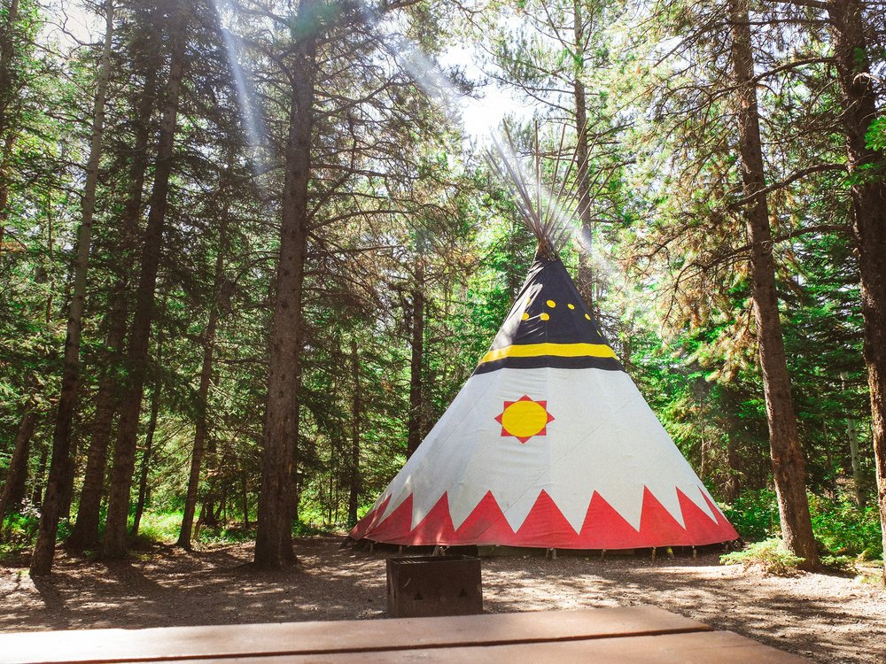 where to go tipi camping canada